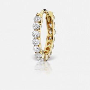 Maria Tash Invisible Set Diamond Huggie